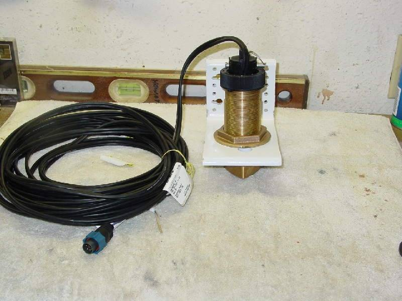 Thru Hull Transducer Installed on Transom | Bloodydecks