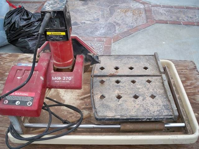 mk 470 tile saw how to use