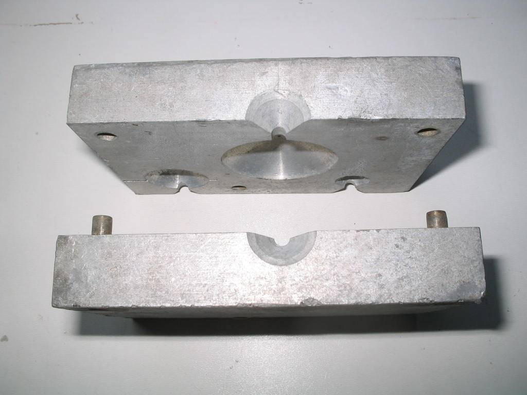 Sinker molds, production molds for pouring weights | Bloodydecks