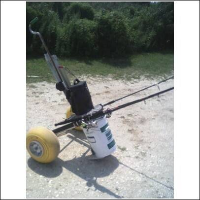 Anyone have pics of fishing cart dolly bloodydecks for Fishing caddy bucket