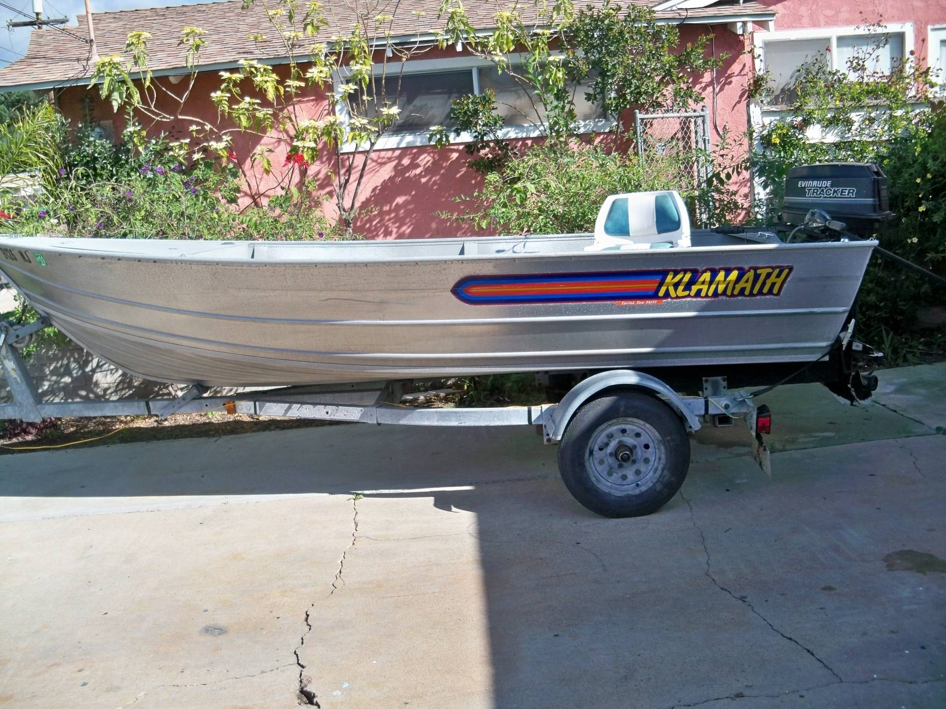 16 ft klamath saltwater fishing forums for 16 foot aluminum boat motor size