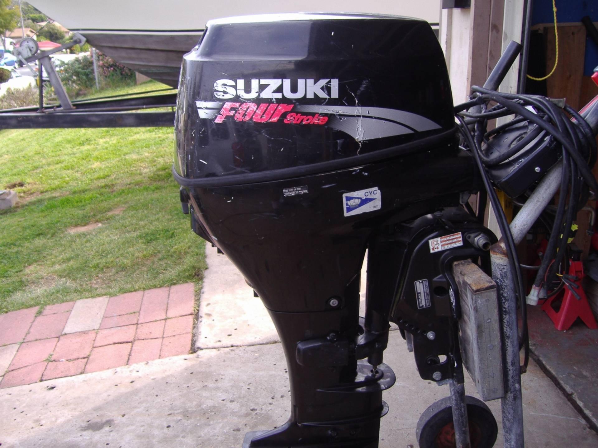 outboard 25 h.p. suzuki 4 stroke   bloodydecks
