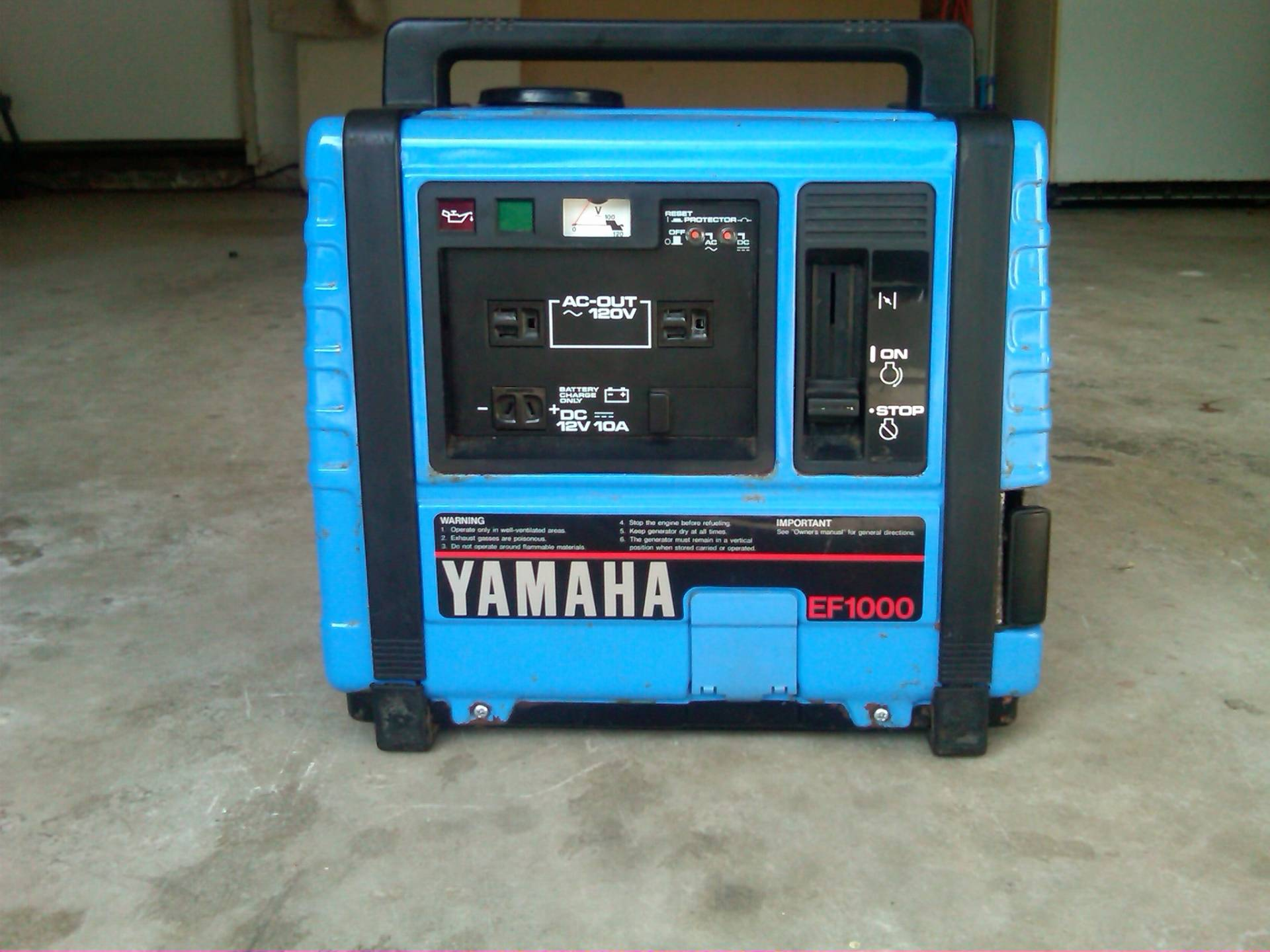 Yamaha ef 1000 generator bloodydecks for Yamaha generator for sale