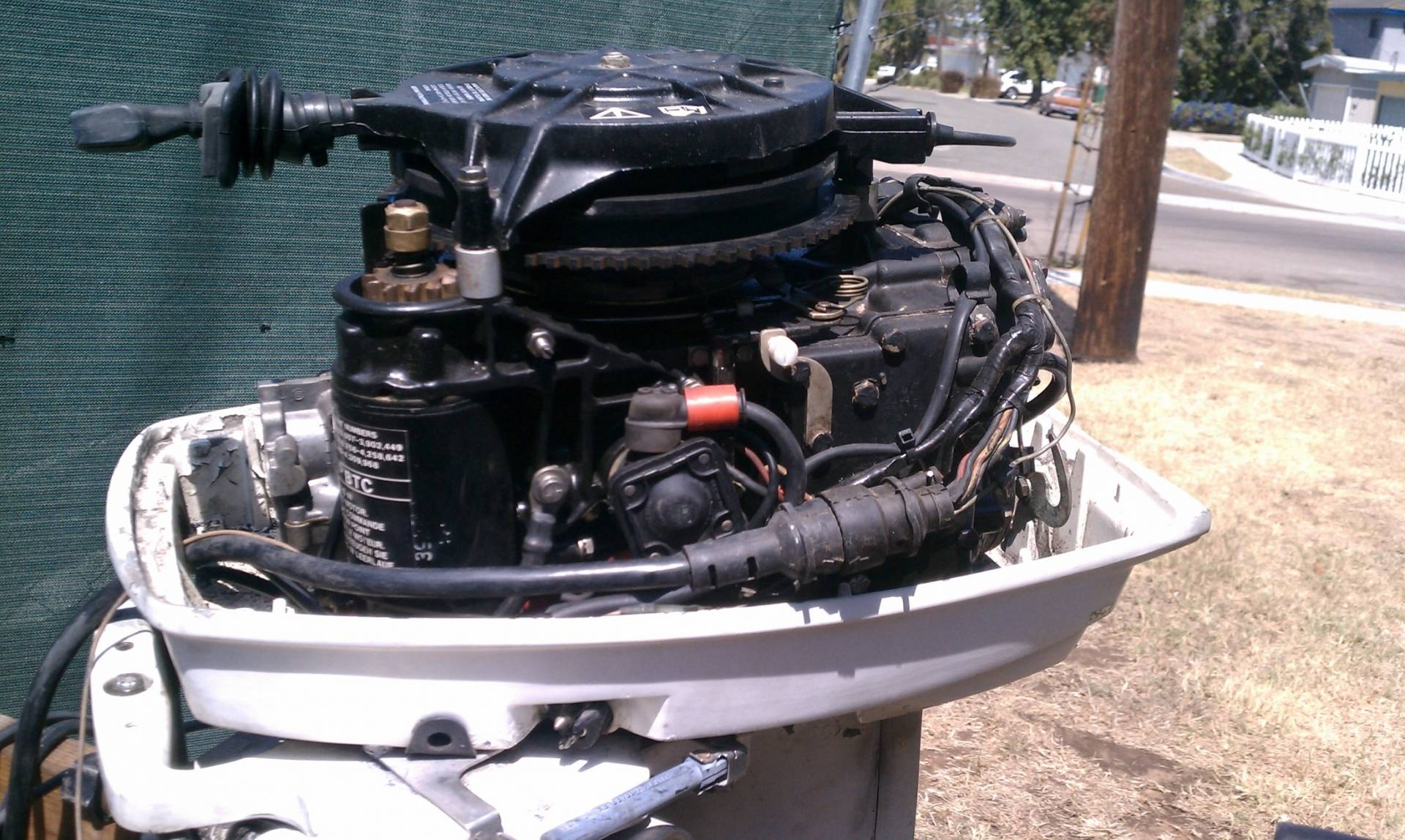 30 Hp Johnson 2 stroke Outboard Motor electric start with controls
