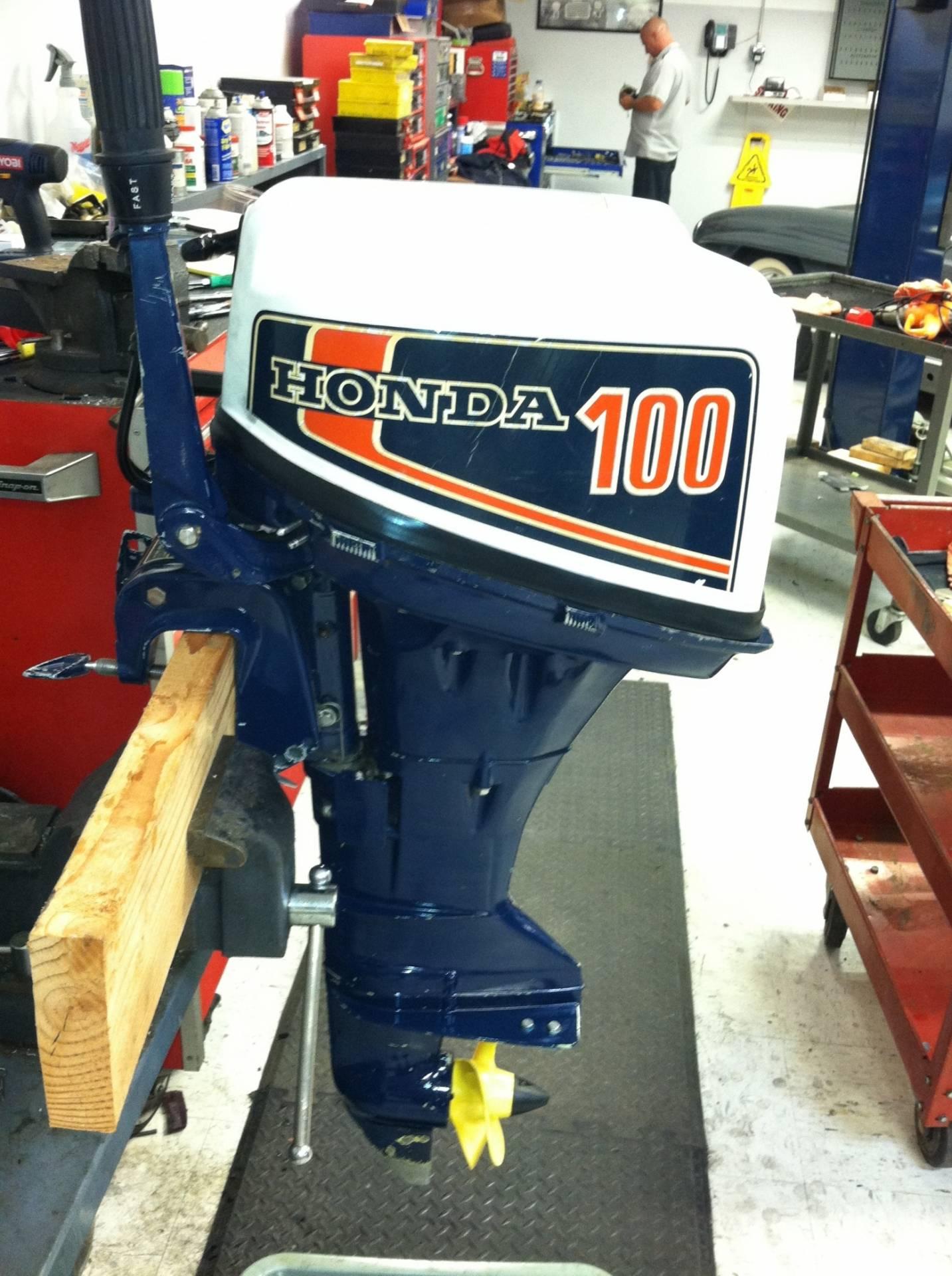 4 stroke honda 10 hp b100s outboard motor saltwater for Honda four stroke outboard motors