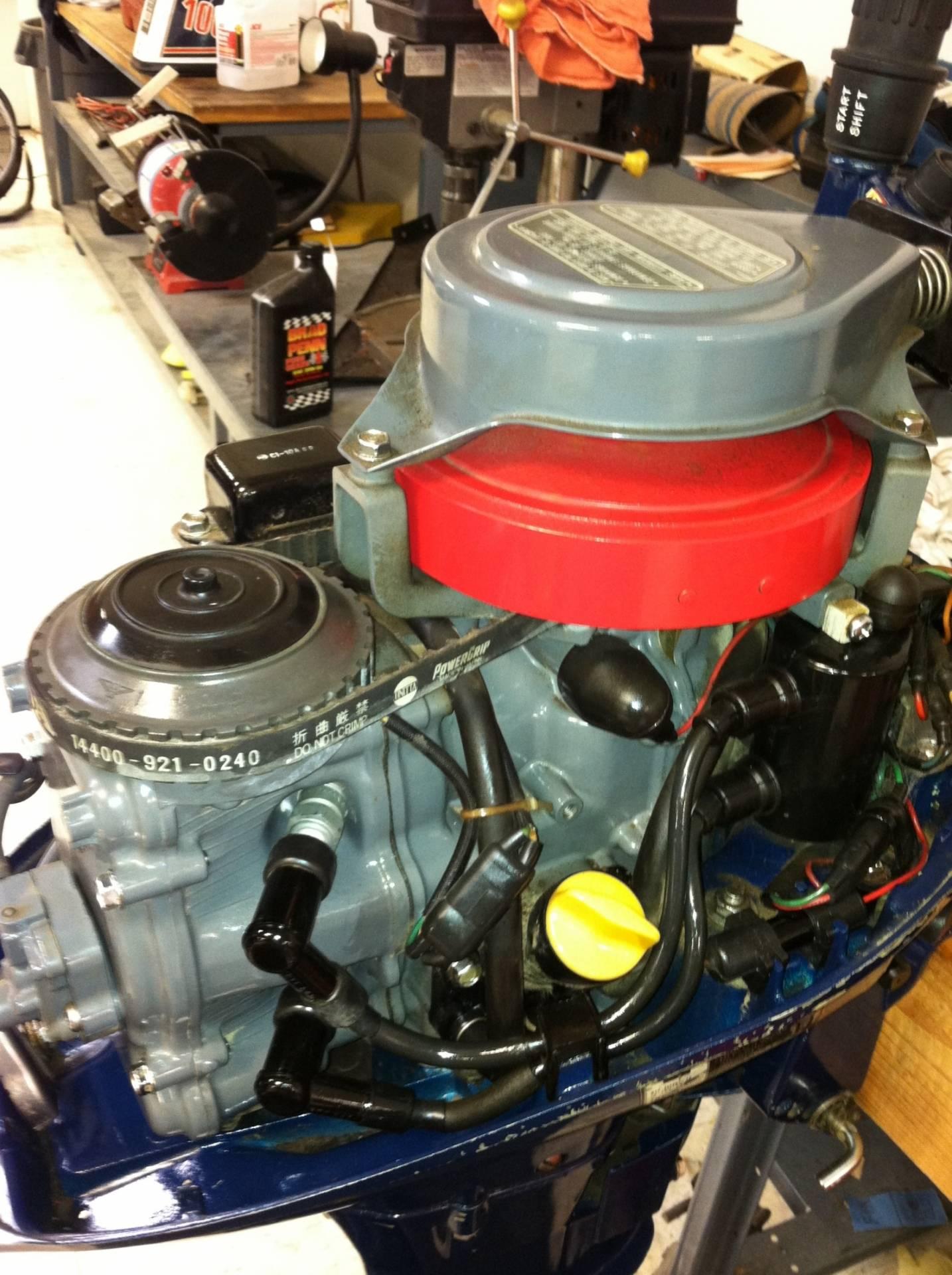 4 stroke honda 10 hp b100s outboard motor saltwater for Honda 2 5 hp outboard motor