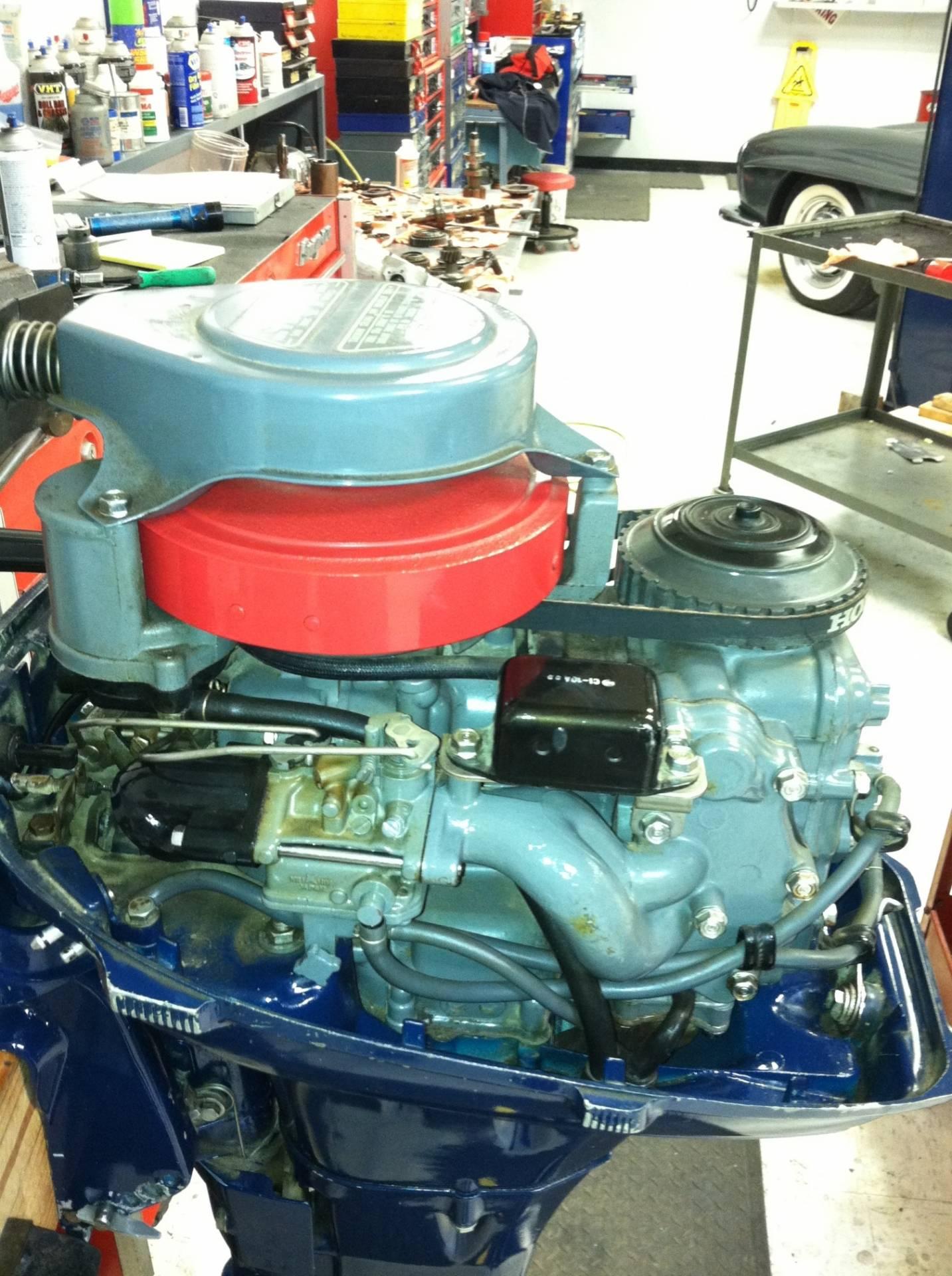 4 stroke honda 10 hp b100s outboard motor bloodydecks for Honda 2 5 hp outboard motor