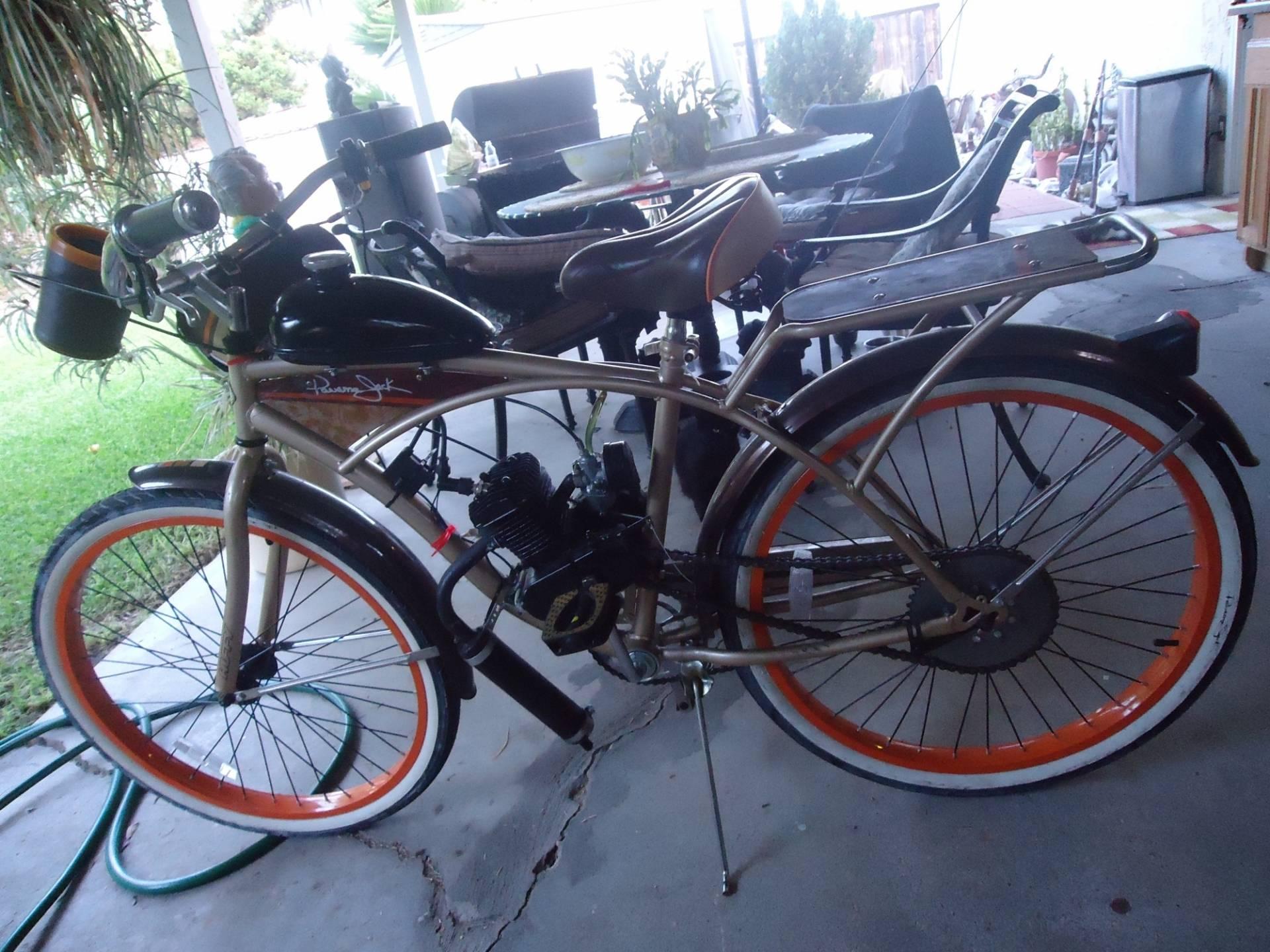 Motorized panama jack beach cruiser bike bloodydecks for Motorized bicycle laws california