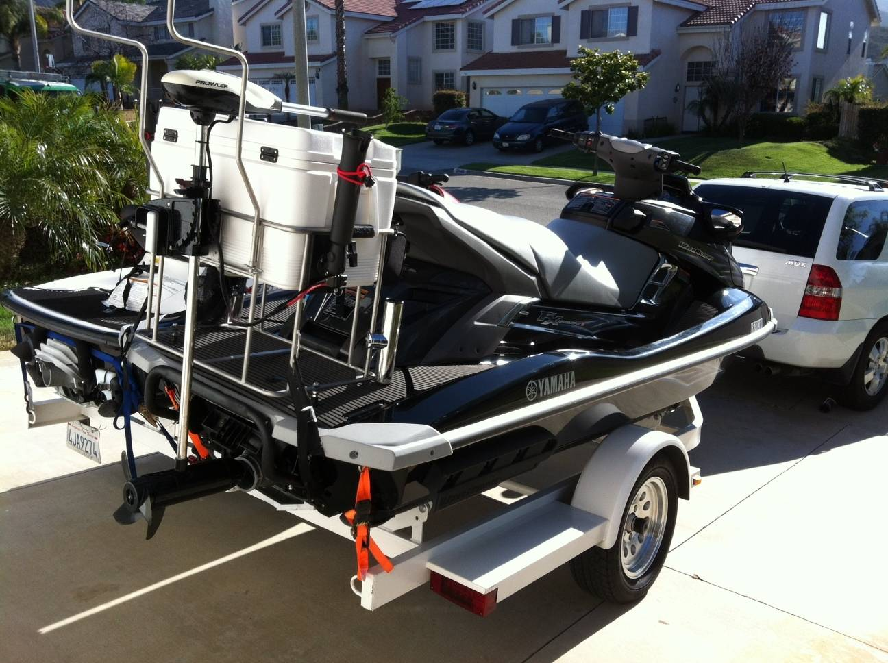 Jet ski fishing trip to la jolla bloodydecks for Best jet ski for fishing