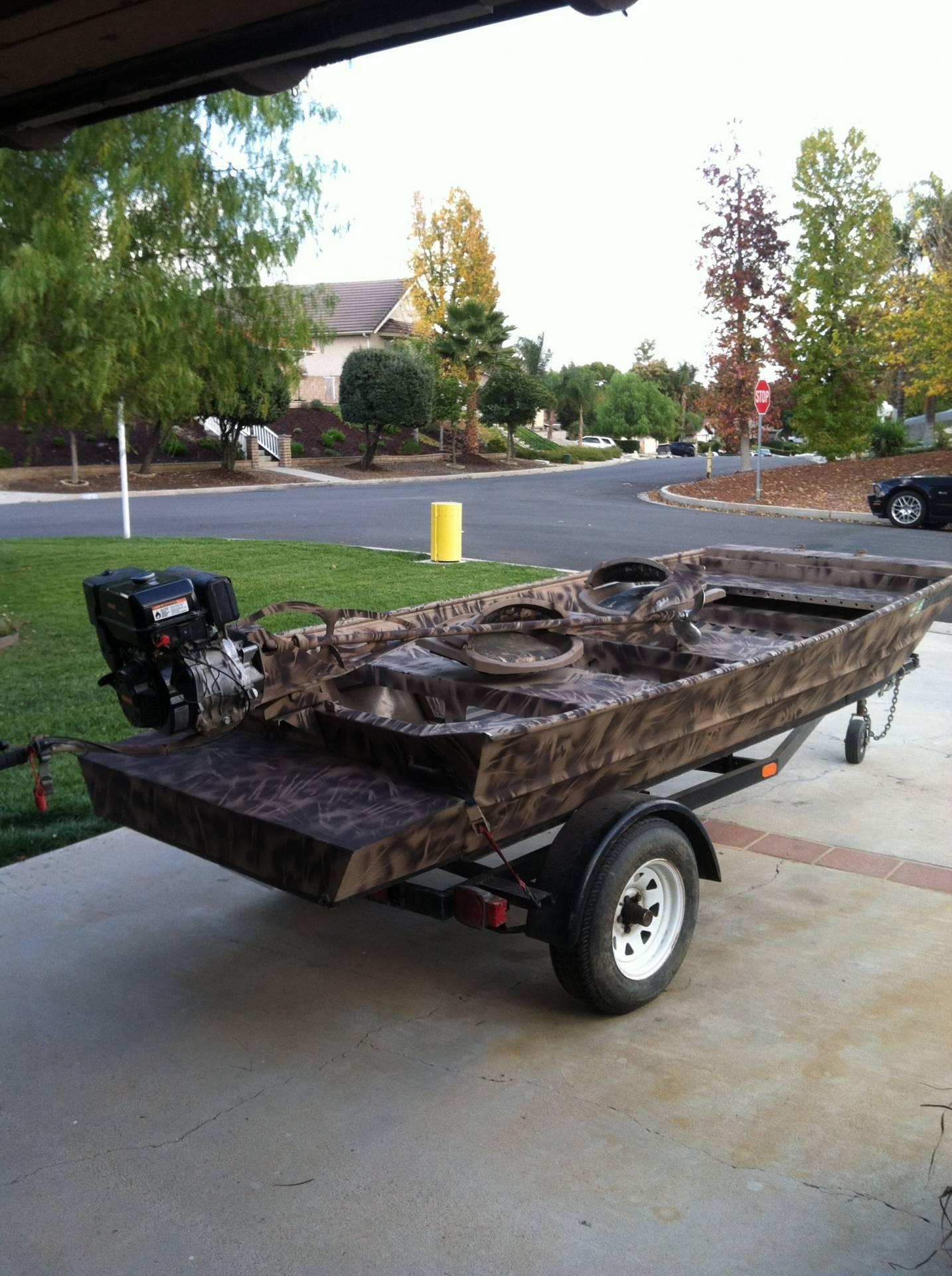 12 Custom Welded Duck Boat And 12hp Mud Buddy Bloodydecks