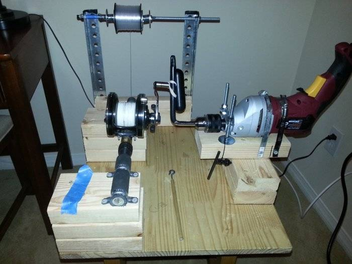 My diy electric line winder bloodydecks for Fishing line winder