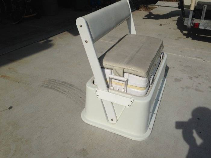 90qt Cooler Seat With Backrest Bloodydecks