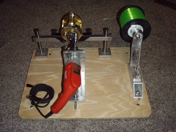 Homemade line winder bloodydecks for Fishing line winder