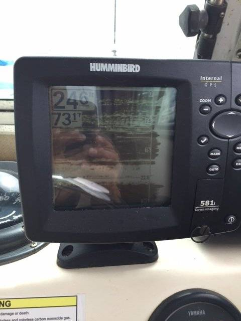 wts: hummingbird 581i down imaging fish finder | saltwater fishing, Fish Finder