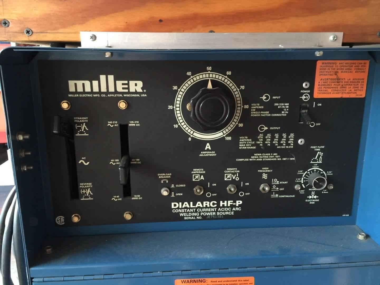 Miller Arc Welder >> Miller Tig Welder Dialarc HF-P -Price reduced | Bloodydecks