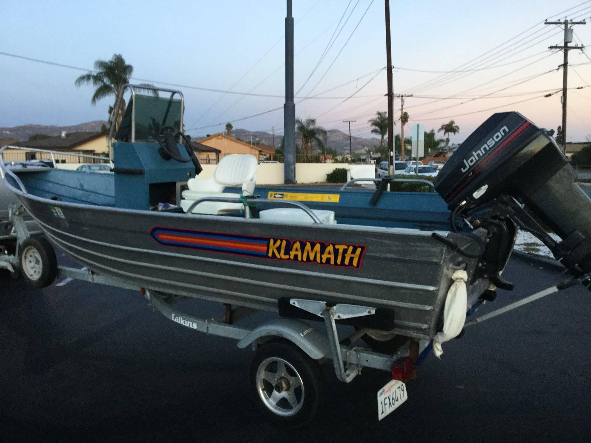 1996 super clean 16ft klamath boat bloodydecks for 16 foot aluminum boat motor size