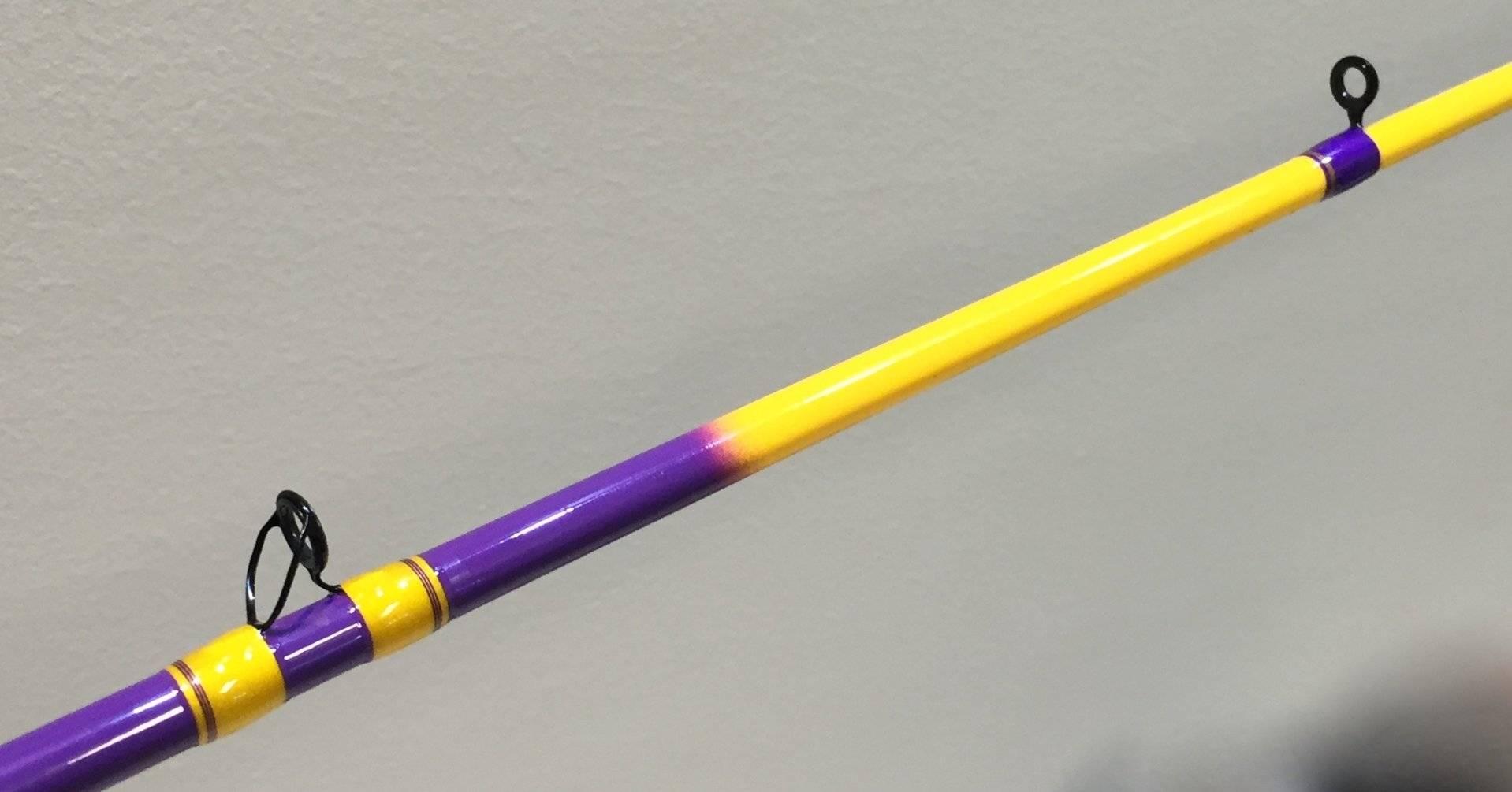 Lsu rod 2 saltwater fishing forums for Purple fishing rod