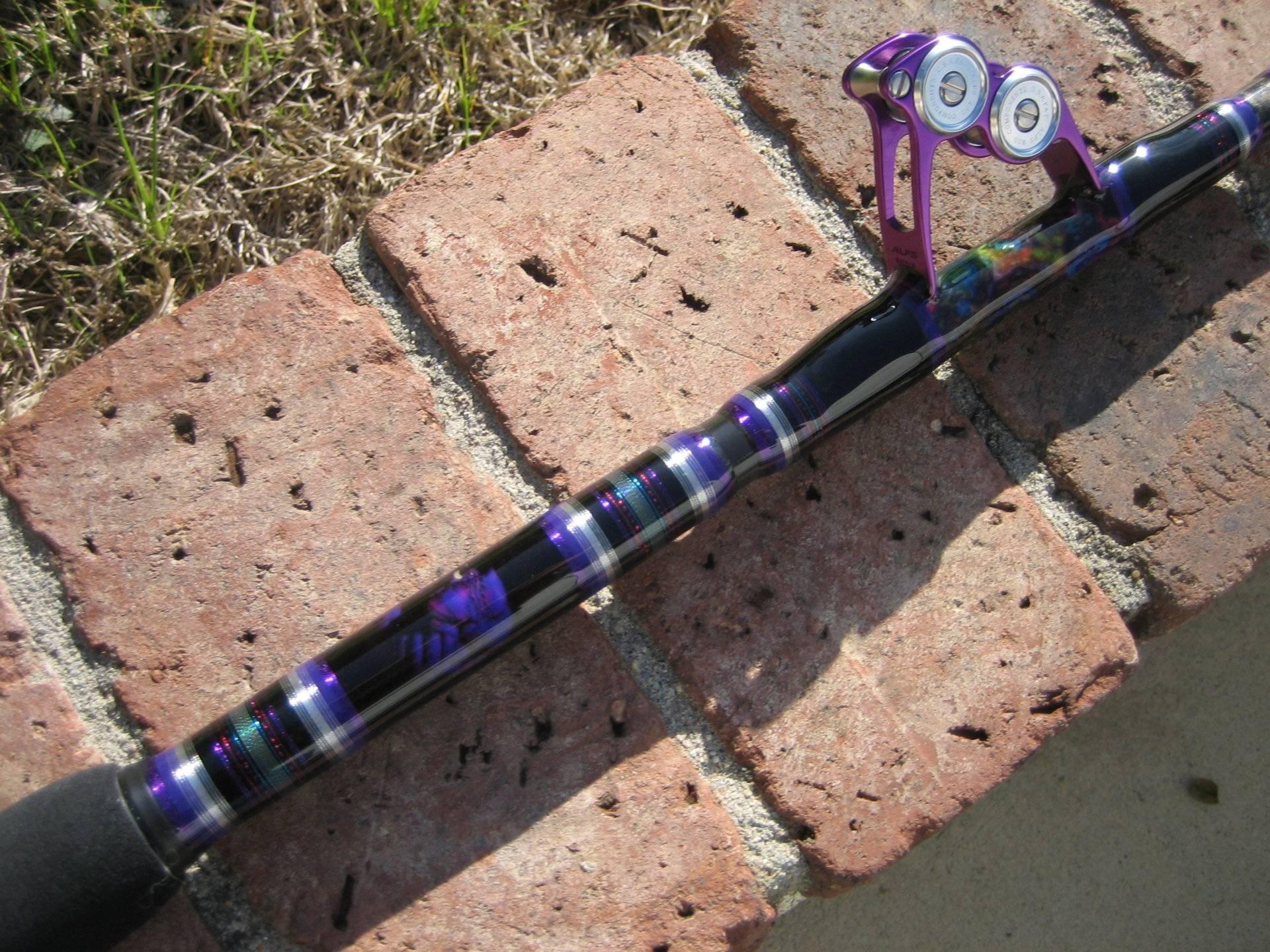 Gf755xxh purple monster bloodydecks for Purple fishing rod
