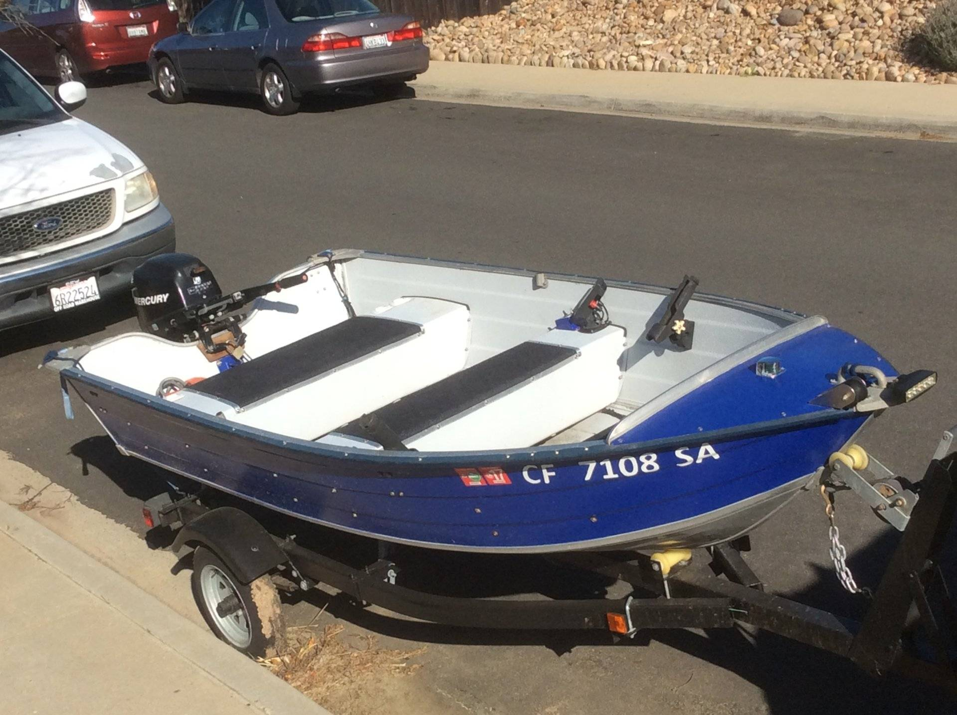 12 Ft Duroboat With 9 9hp Mercury 4 Stroke Reduced 3000
