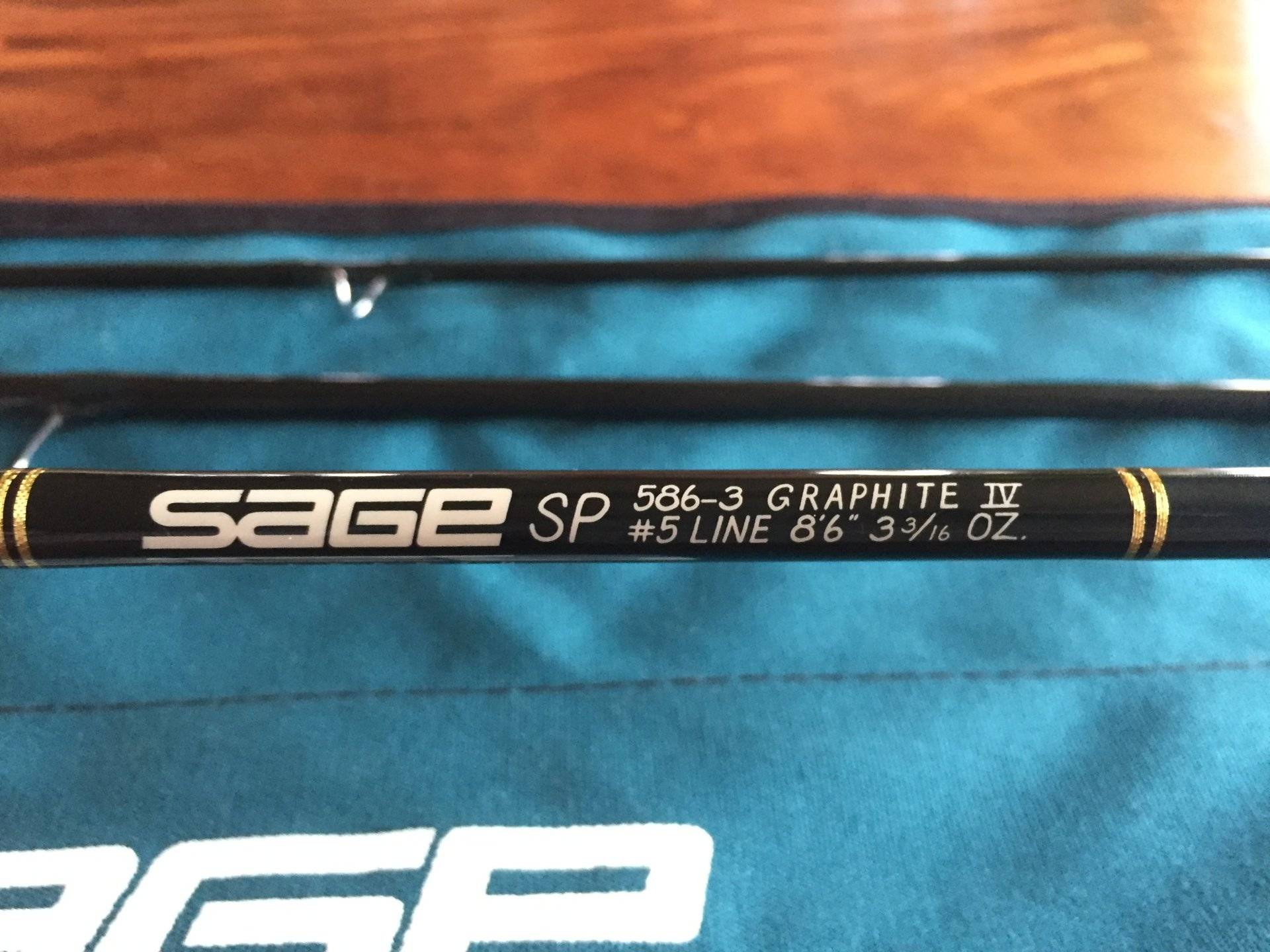 "Sage, SP 586-3 Fly Rod (#5 line, 8'6"" 3-3/16 oz ..."