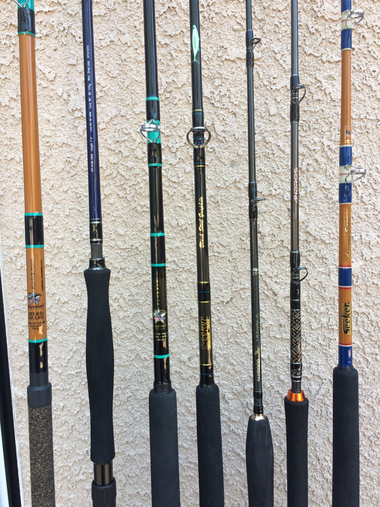 Rods for sale oti calstar seeker shimano saltwater for Calstar fishing rods