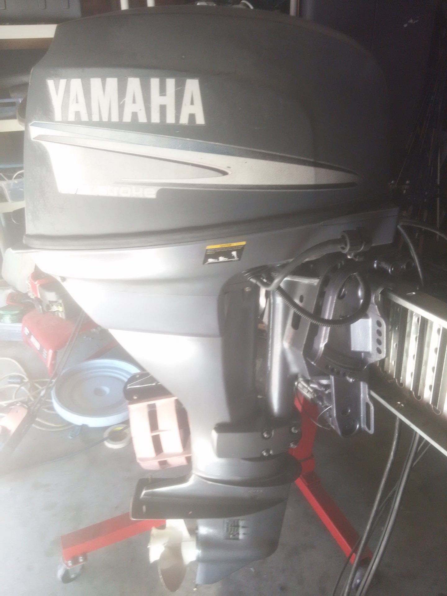 Yamaha 25 hp four stroke outboard motor controls for Yamaha outboard service