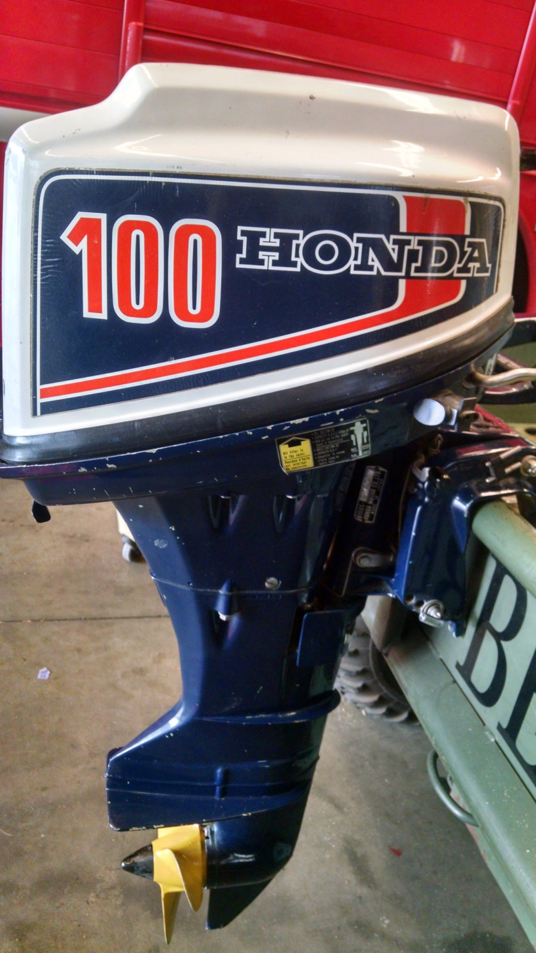 10hp honda outboard b100s 4 stroke excellent condition for Honda outboard motors price