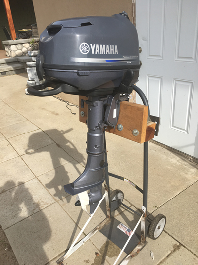 Yamaha 6 hp four stroke outboard like new used twice for for Used yamaha 4 stroke outboard motors for sale