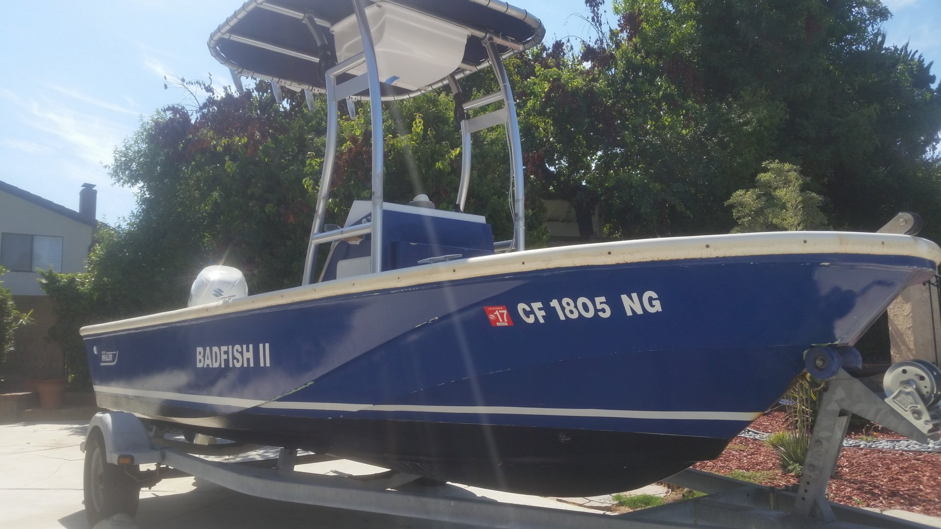 1990 17ft Boston Whaler Outrage Bloodydecks