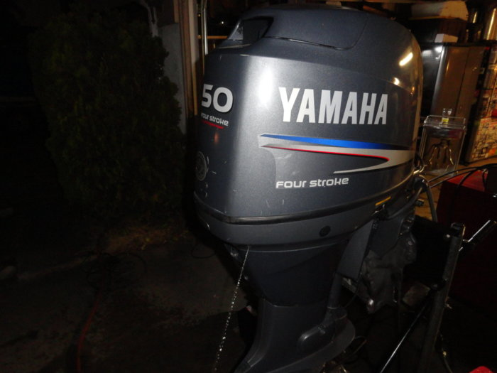 Yamaha f50 outboard motor 142 hours clean fuel injected for Motor city powersports hours