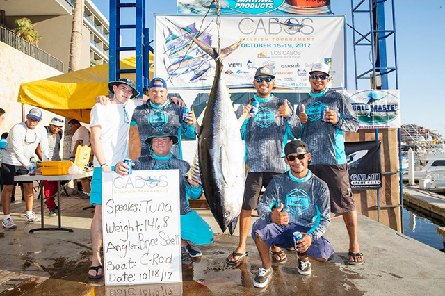 Day 3 Bryce Schell landed a 146.80-pound yellowfin tuna aboard the C-Rod.jpg