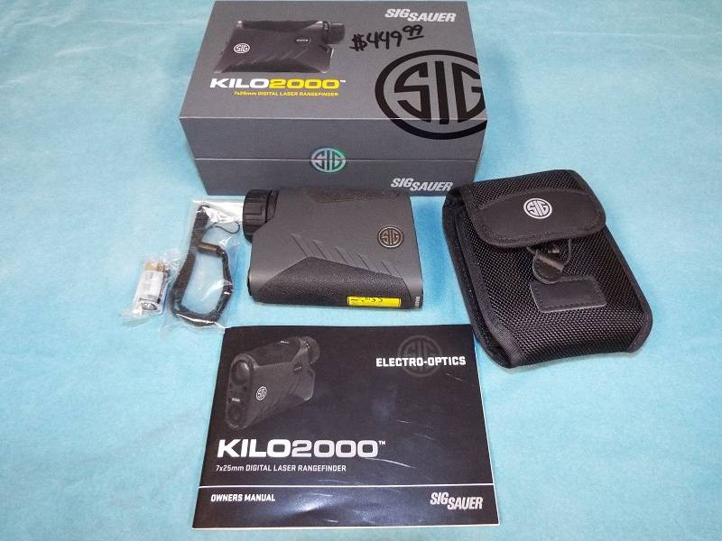 Sig Sauer kilo 2000 range finder - $350 | Bloodydecks