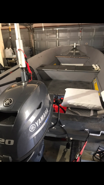 SOLD - 2013 Yamaha 20HP outboard electric start | Bloodydecks