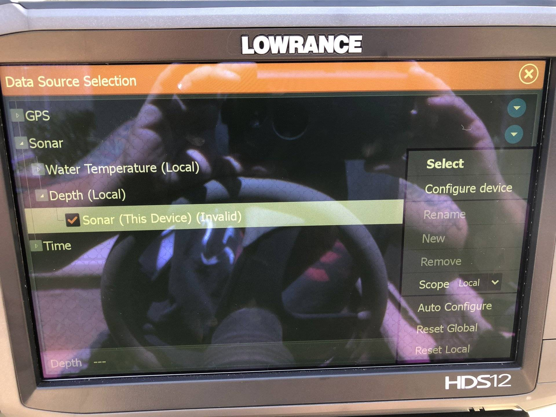 Lowrance HDS12 GEN3 depth is not working | Bloodydecks