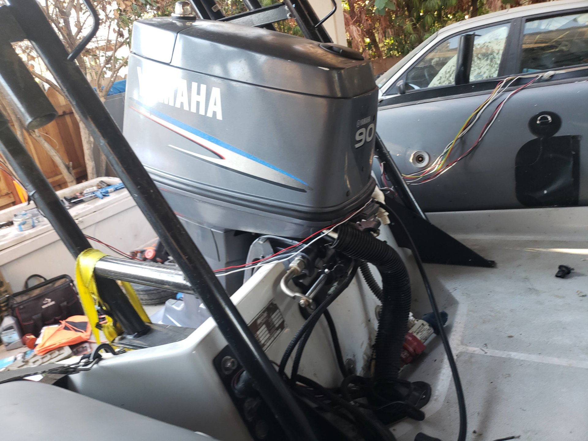 For Sale - Yamaha Outboard motor 90HP with all wiring ... Yamaha Outboard Wiring Harness For Sale on