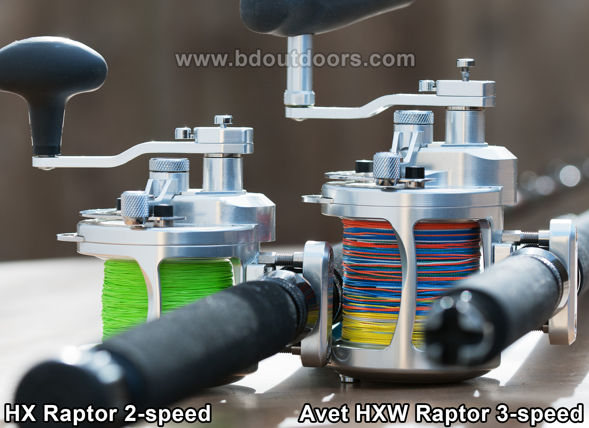 REVIEW COMPARE AVET REELS HX 2-speed HXW 3-speed RAPTOR Gear