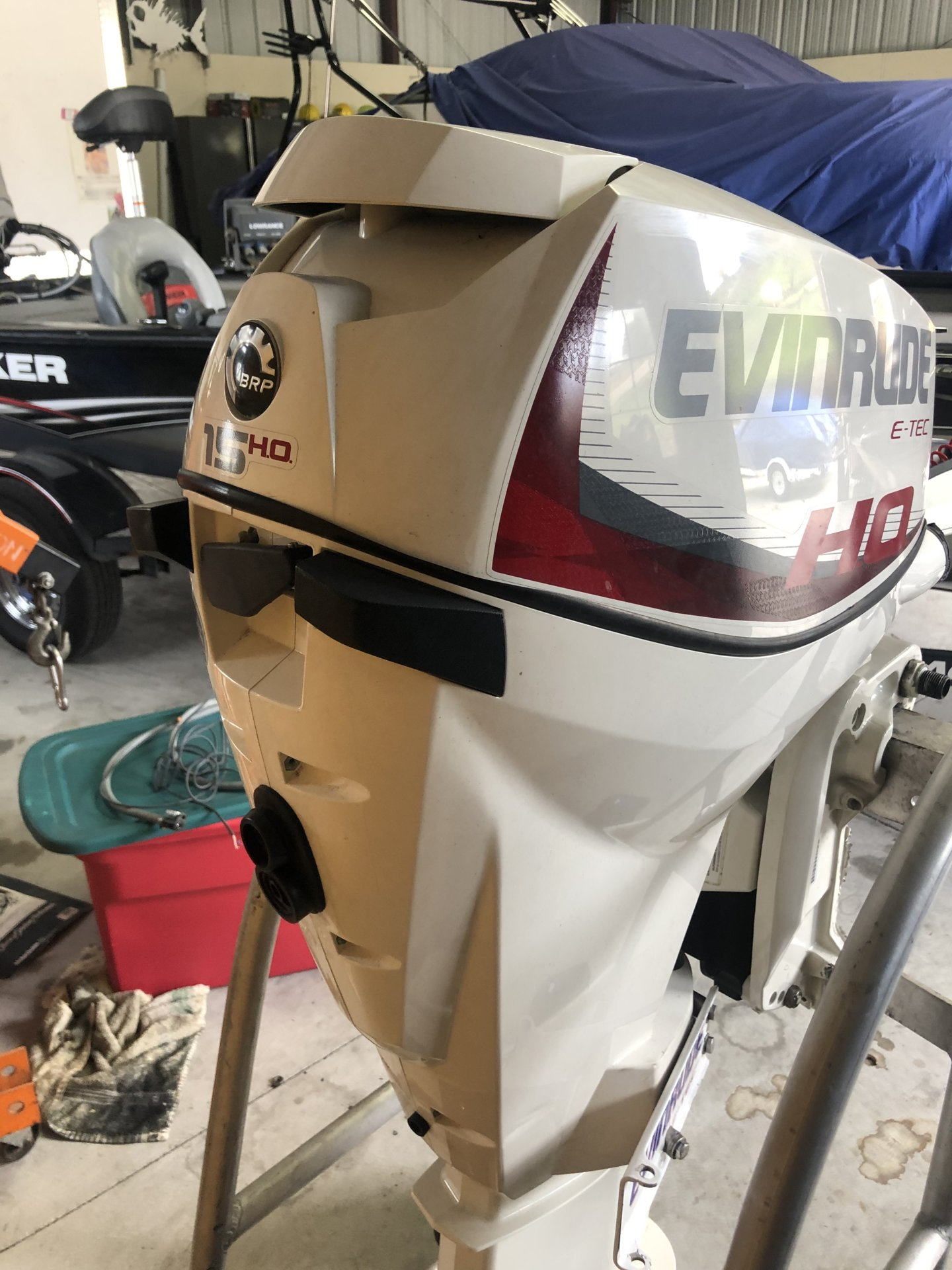 For Sale - 2013 Evinrude 15hp Etec HO Kicker Outboard