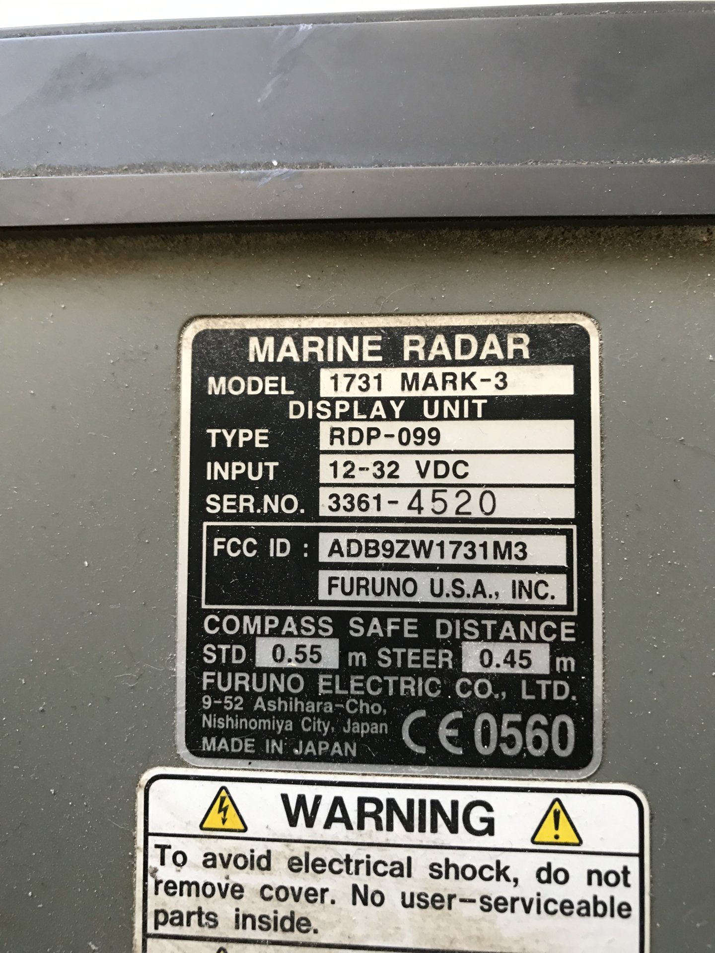 "Offer Up San Diego >> For Sale - Furuno 1731 mark 3 radar and RSB-0071 24"" Array ..."