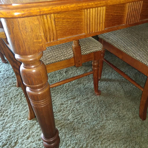 Oak Table Jpg Side And Leg Detail