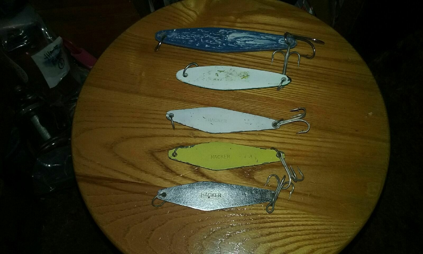 For Sale - Lot Of 5 Saltwater Fishing Lures Jigs - Hacker